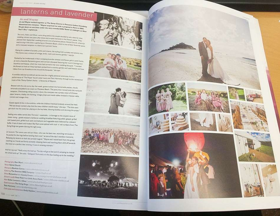 Cornwall Wedding Photographer Featured in WED Magazine