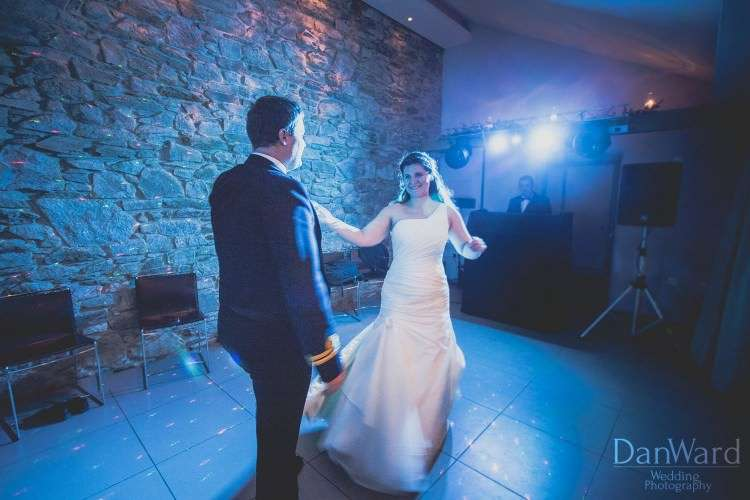 First dance wedding photo by dan ward photography - photo was taken at trevenna barns in liskeard cornwall