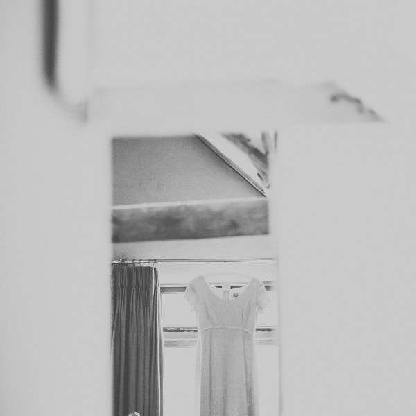 Framing the wedding dress
