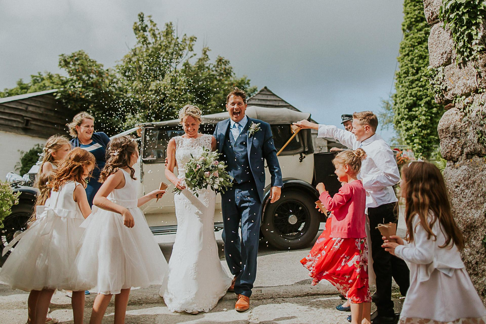 Wedding Photographer in Cornwall shooting at Knightor Winery - St Austell