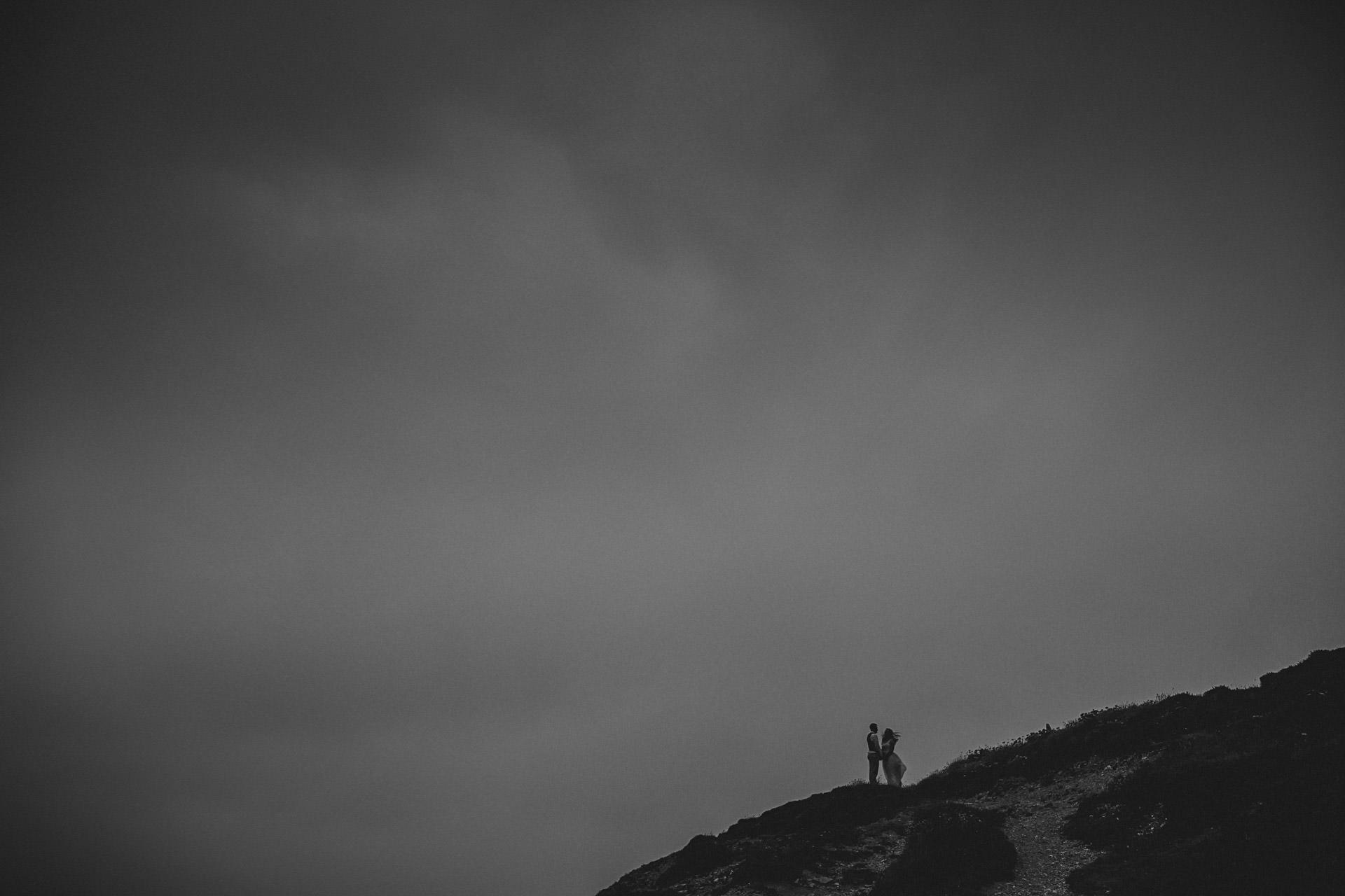 Stormy wedding photographer cornwall