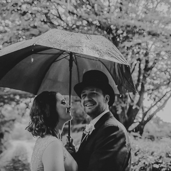Wet weather at Trevenna Barns - Claire and James